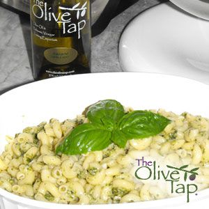 Four Ingredient Pesto - The Olive Tap Recipes - This -- one of my easiest recipes ever -- won, too! Double coolness!