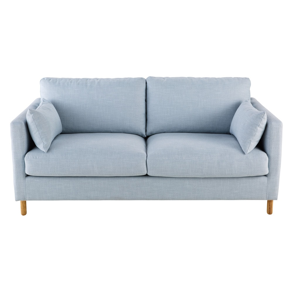 3 Sitzer Sofa Gletscherblau Lit 3 Places Canape Lit Canape Bleu Clair