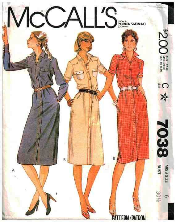 McCall\'s Sewing Pattern 7038   Sewing patterns, Vintage sewing ...
