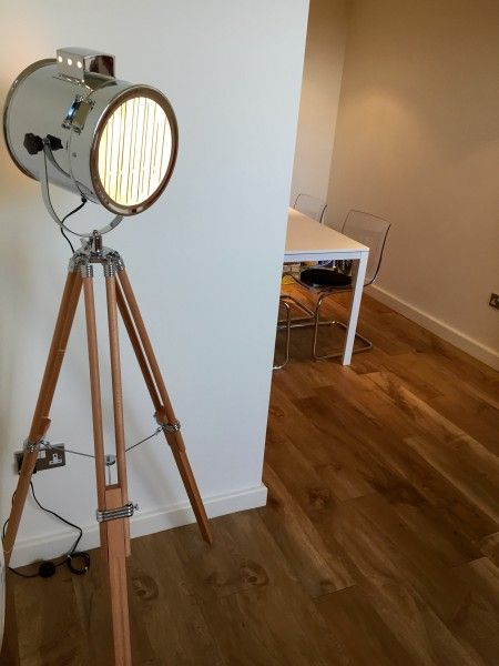 Alfred Tripod Floor Lamp in natural wood | Tripod, Floor lamp and Woods