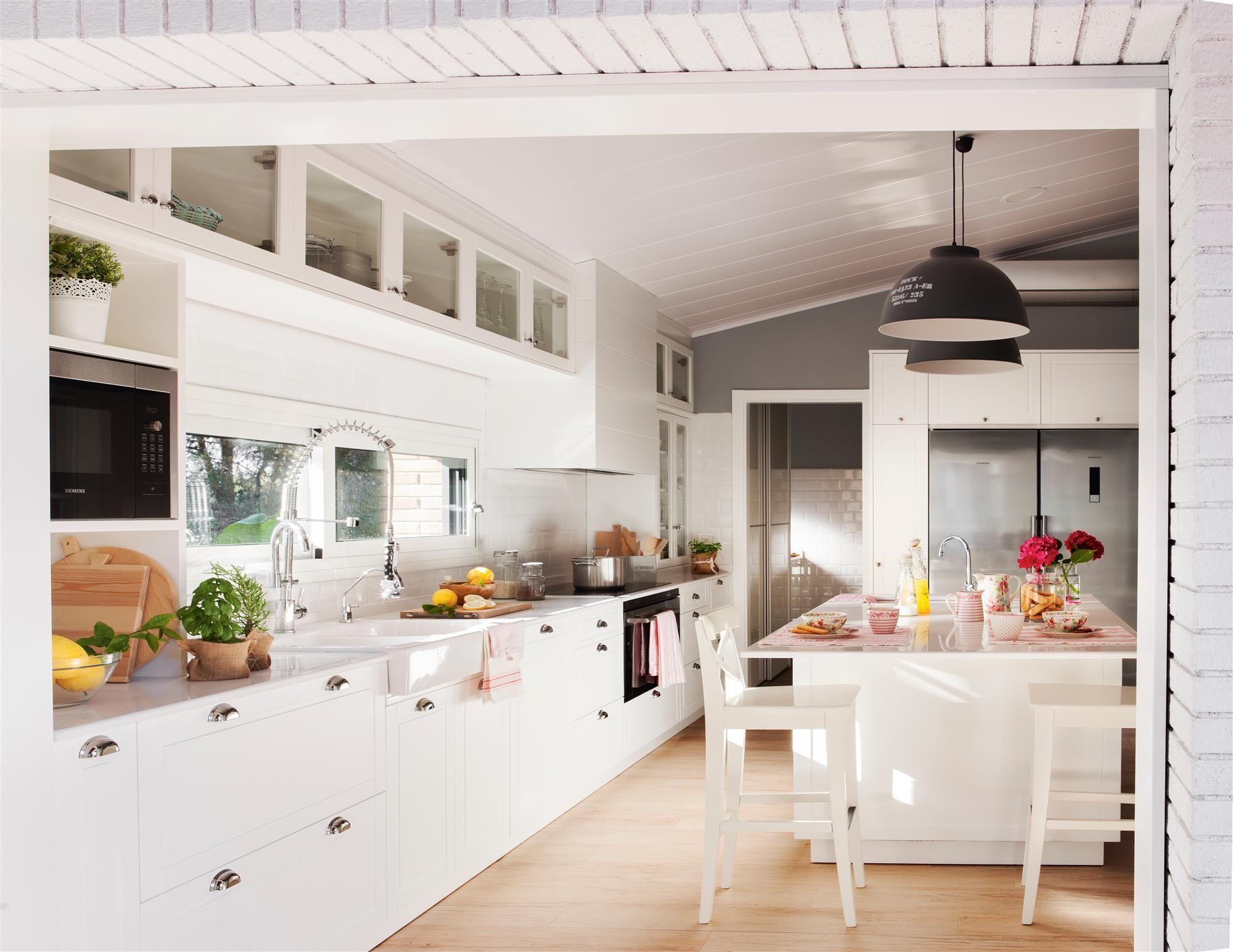 Excepcional Blanqueados Gabinetes De Cocina Ideas Friso - Ideas Del ...