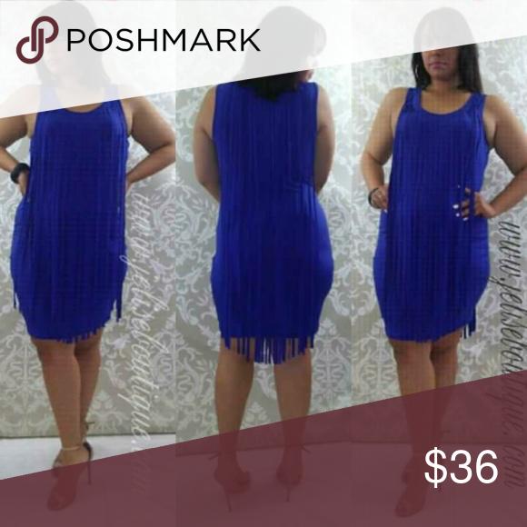 Cynthia Plus Size Tank Top Cobalt Fringe Dress Boutique | My ...