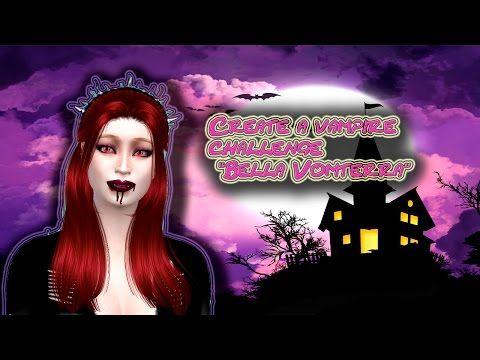 """Create a vampire challenge sims 4 """"Bella Vomterra"""""""
