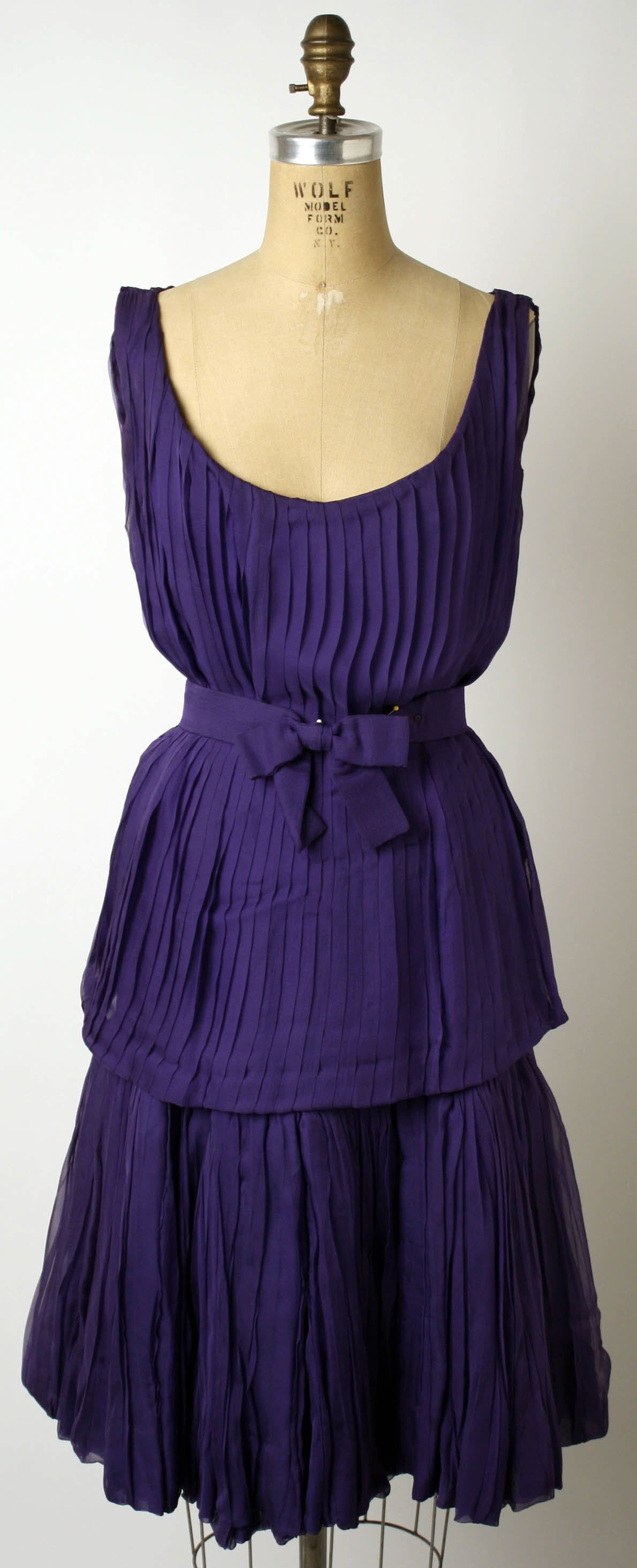 Purple Silk Cocktail Dress ca. 1950-1957, Antonio del Castillo for ...