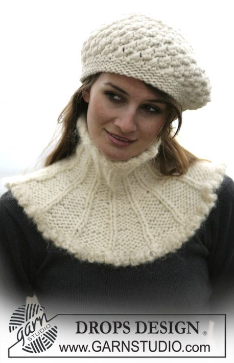 DROPS 98-14 - DROPS Neck warmer and hat in Eskimo - Free pattern by ...