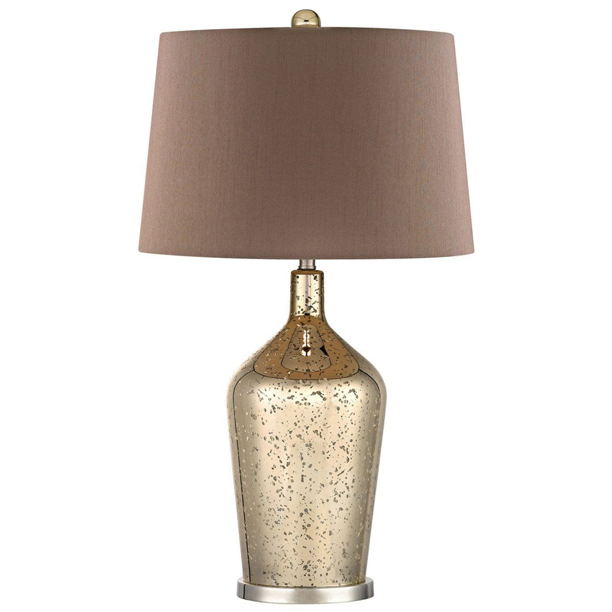 This Lamp Is Part Of A Collection That Is Relaxed Comfortable And Pure With A Focus On Light Color And Mercury Glass Table Lamp Bottle Table Lamps Table Lamp