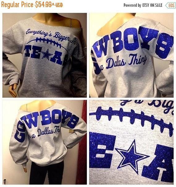 los angeles 315ff 586c8 ON SALE Cowboys off the shoulder sweatshirt Dallas Cowboys ...