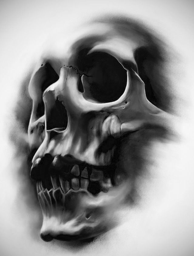 Shadow skull | Badass tattoos | Skull tattoos, Tattoo designs, Skull