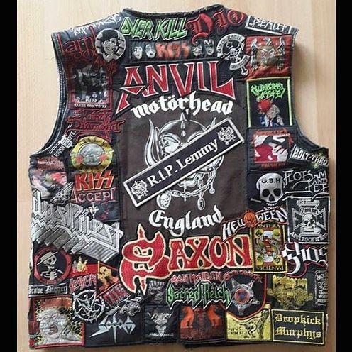 Michael from Germany #battlejacket #metalpatches #metaljacket #kutte #bandpatch #bandpatches #battlevest #heavymetal #thrashmetal #denimjacket #patchedvest #deathmetal #metalpatches #metal #wovenpatch #paradiselost #metalmaniac