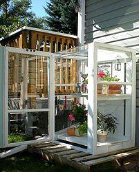 Mini Greenhouse from Old Storm Windows   Hometalk