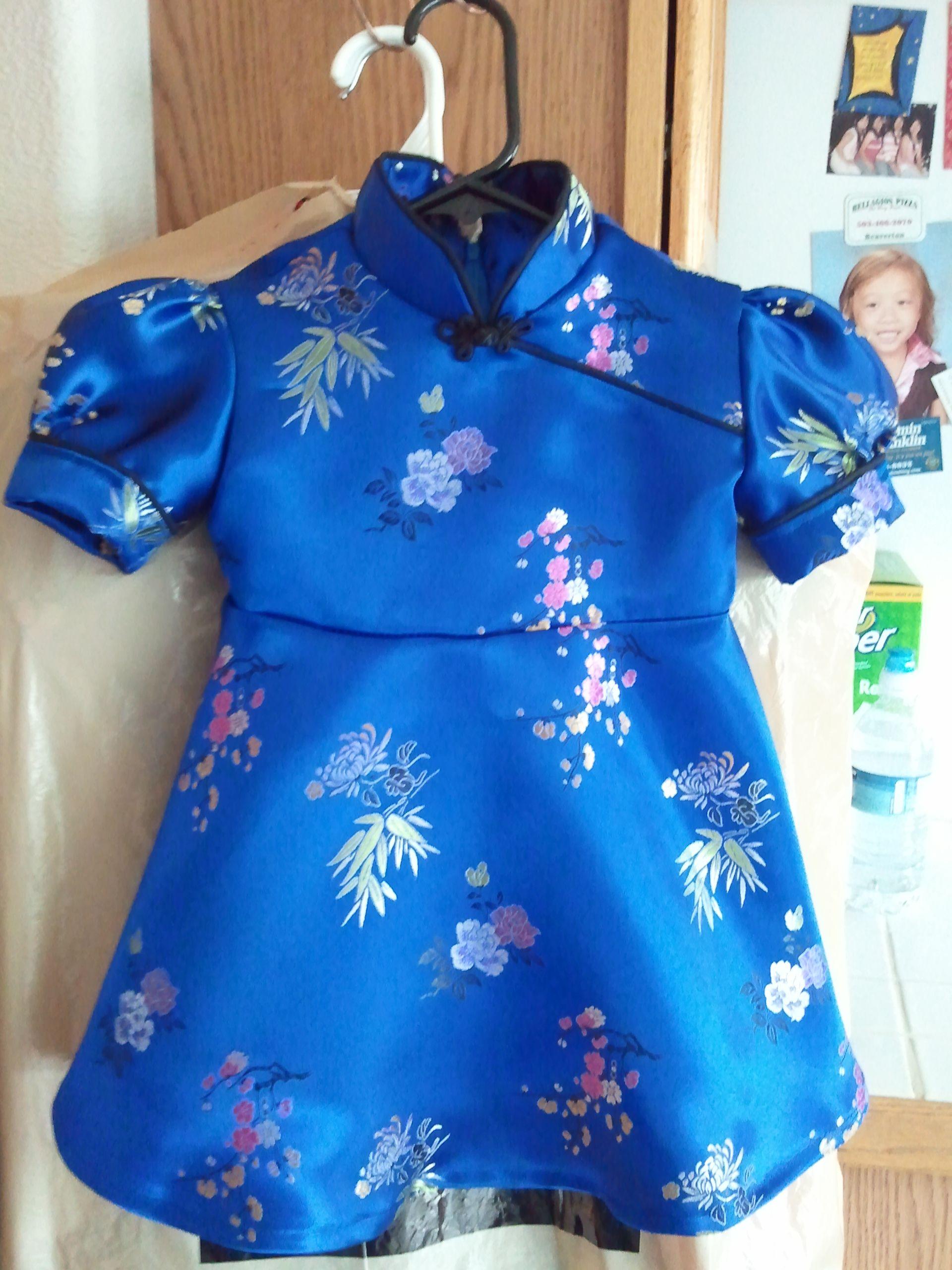 Little girl s blue Chinese dress Home Sewn Pinterest