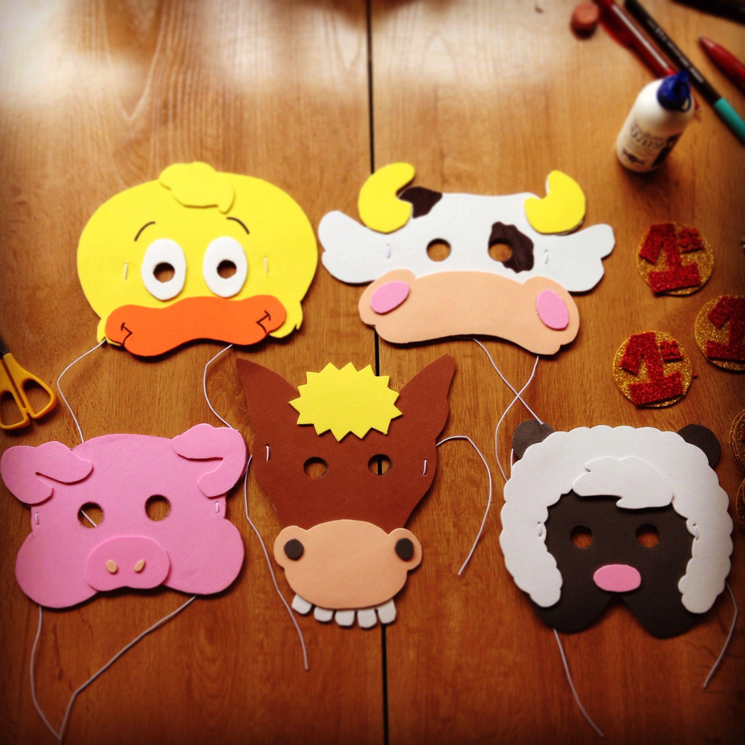 DIY: Old MacDonald's Masks. Farm Animals
