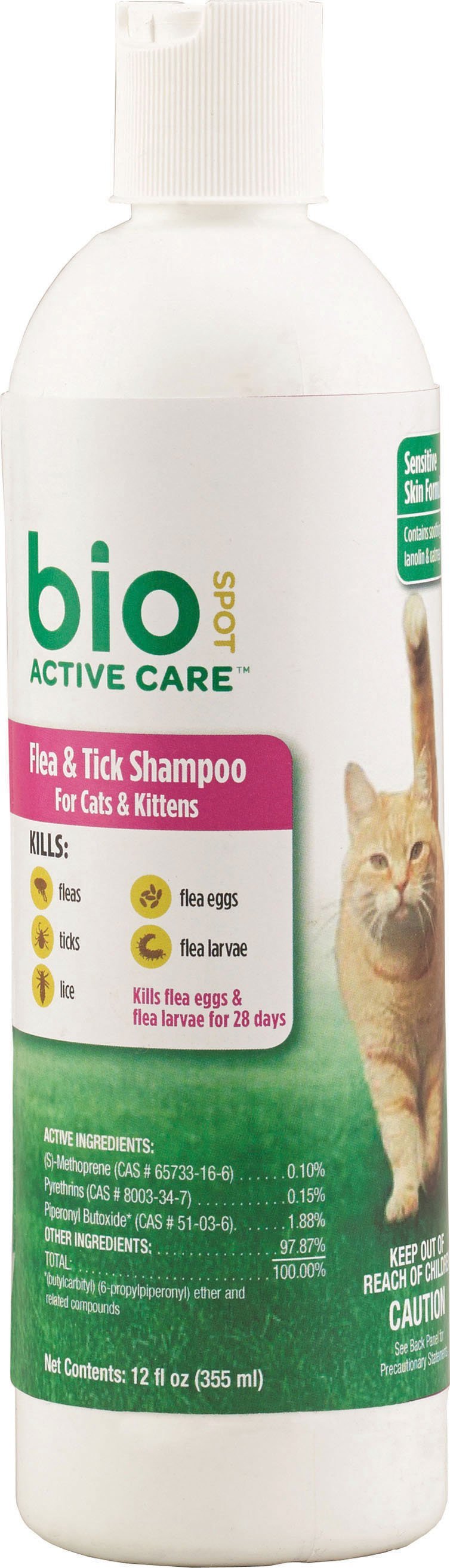 Farnam PetBio Spot Active Care Flea & Tick Shampoo Cats