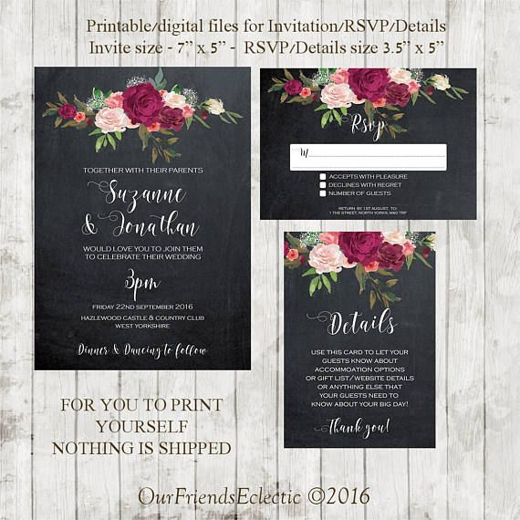 Tafel Hochzeitseinladung Drucken Printable Hochzeit Einladung