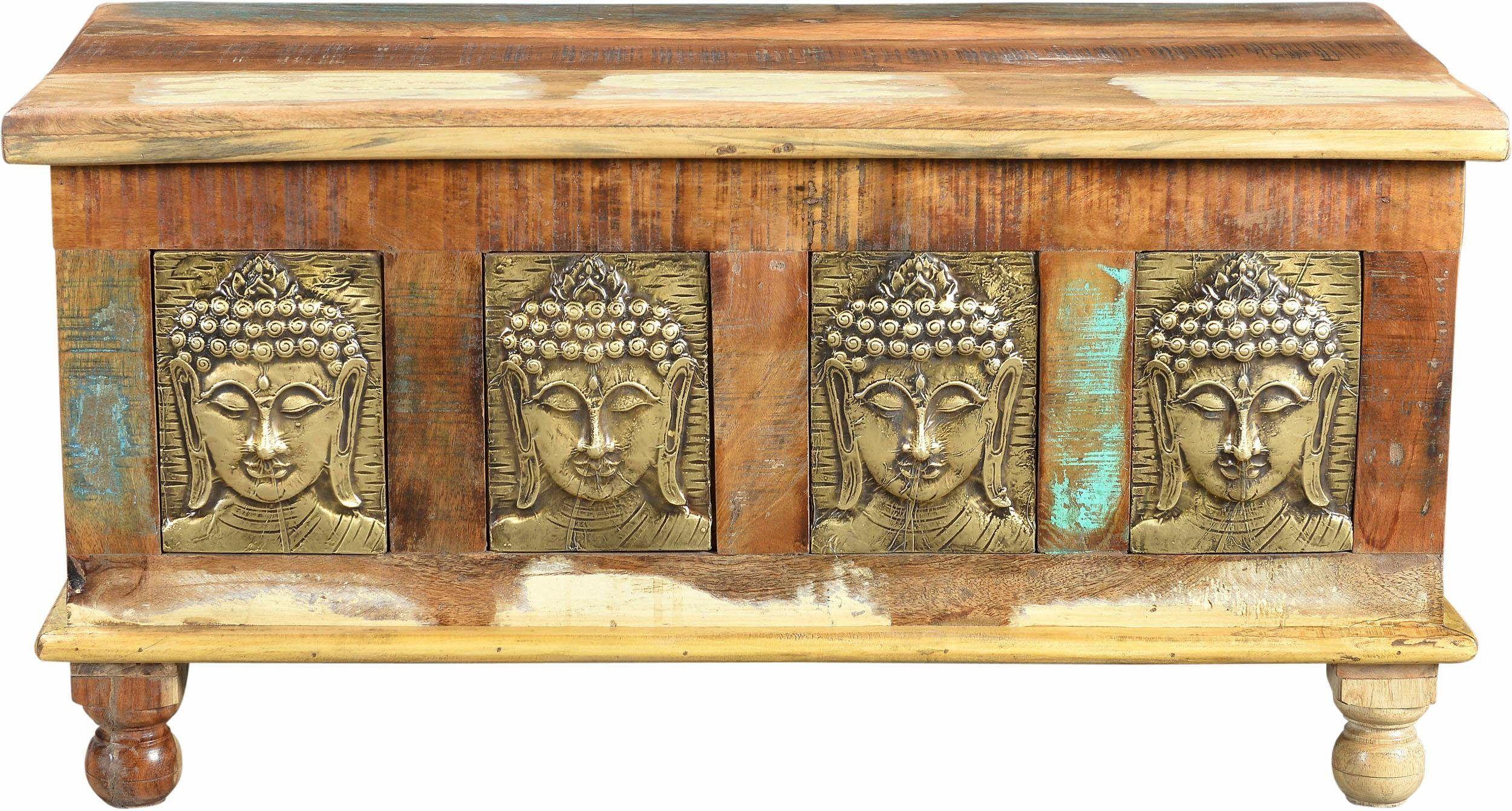 Truhen-Couchtisch «Buddha» braun, », Breite 90 cm«, pflegeleichte Oberfläche, FSC®-zertifiziert, THE WOOD TIMES Jetzt bestellen unter: https://moebel.ladendirekt.de/wohnzimmer/tische/truhentische/?uid=5dc34e76-ab76-5894-9722-7509b62ff34d&utm_source=pinterest&utm_medium=pin&utm_campaign=boards #truhentische #wohnzimmer #tische