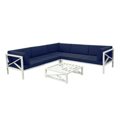 Rosecliff Heights Miller Patio Sectional with Cushion ...