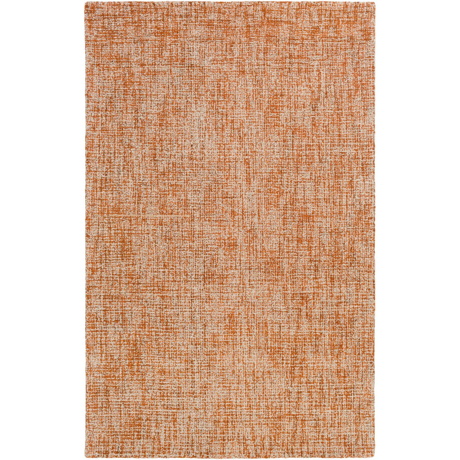Burnt Orange Rust Wool Area Rug The Basics Collection Bring A