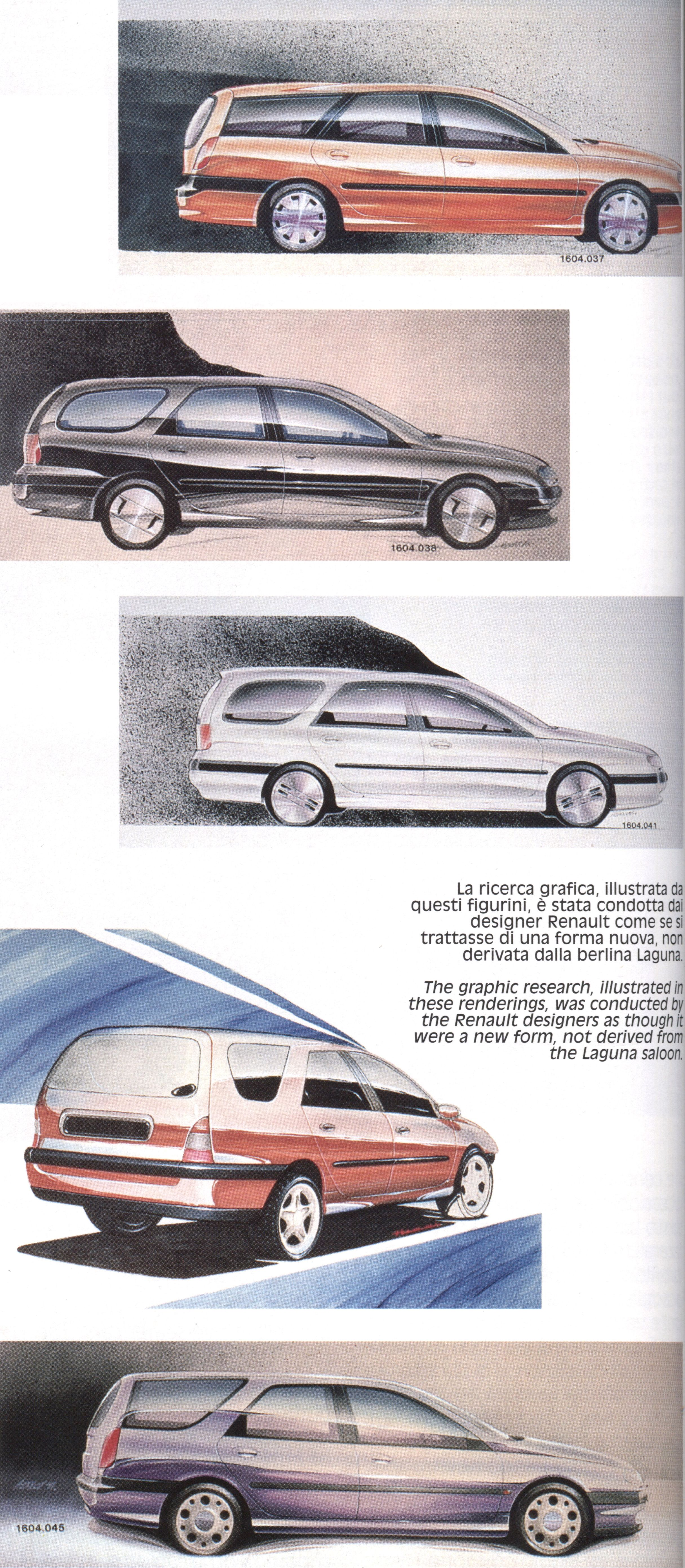Og 1994 Renault Laguna Nevada Mk1 Design Sketches Carros
