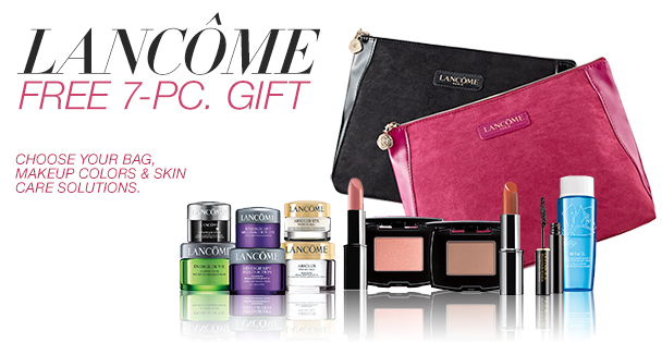 Visit Macy's now and you will receive this Lancome FREE 7-pc gift ...