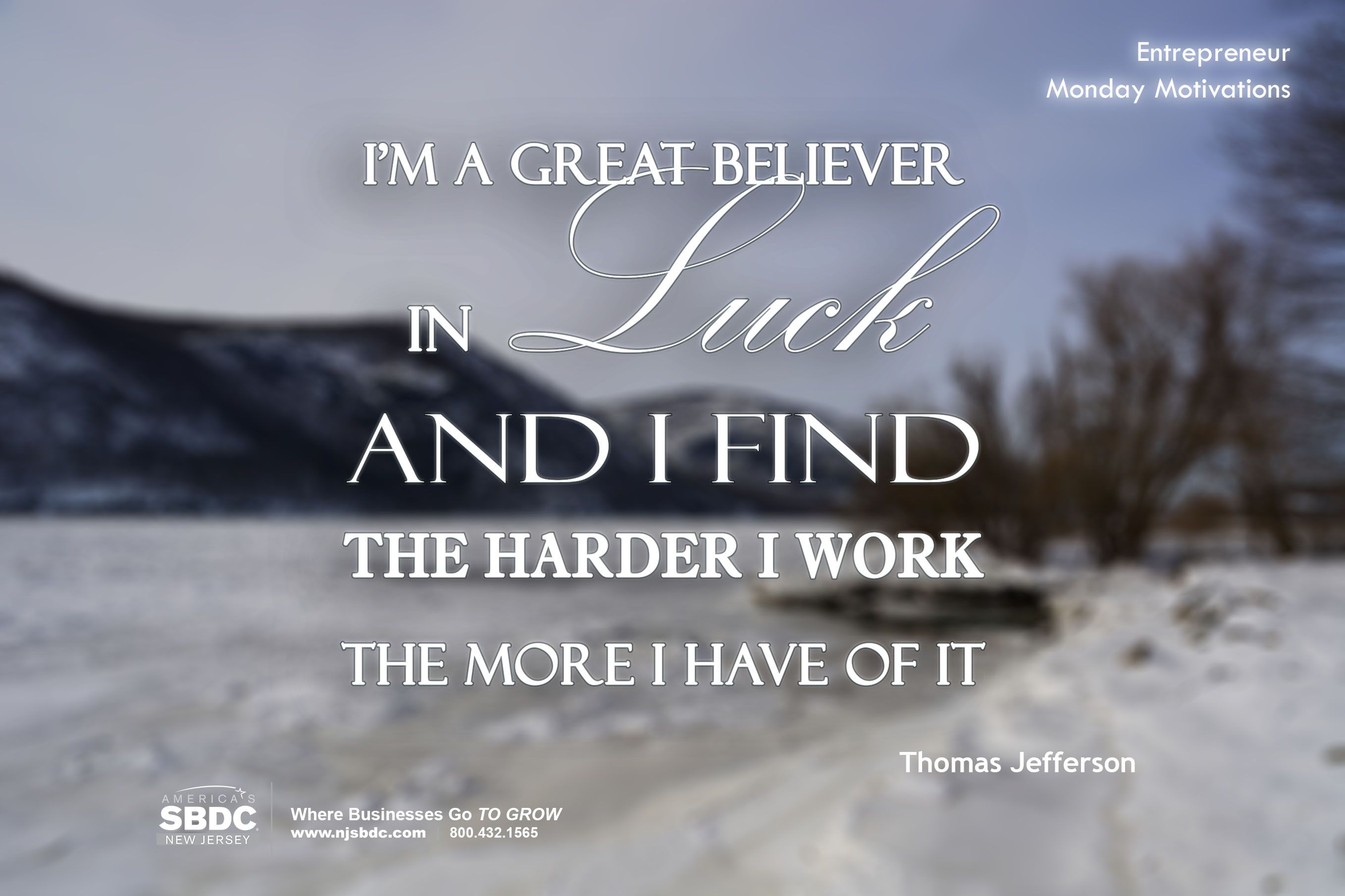Motivational Quote IMAGE - great believer (thomas jefferson)