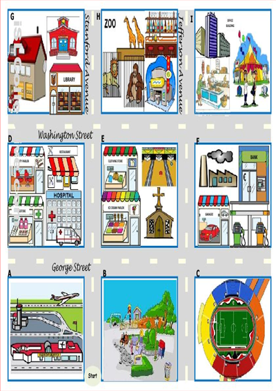 Map Directions Worksheet ESL Check out this fun board game ...