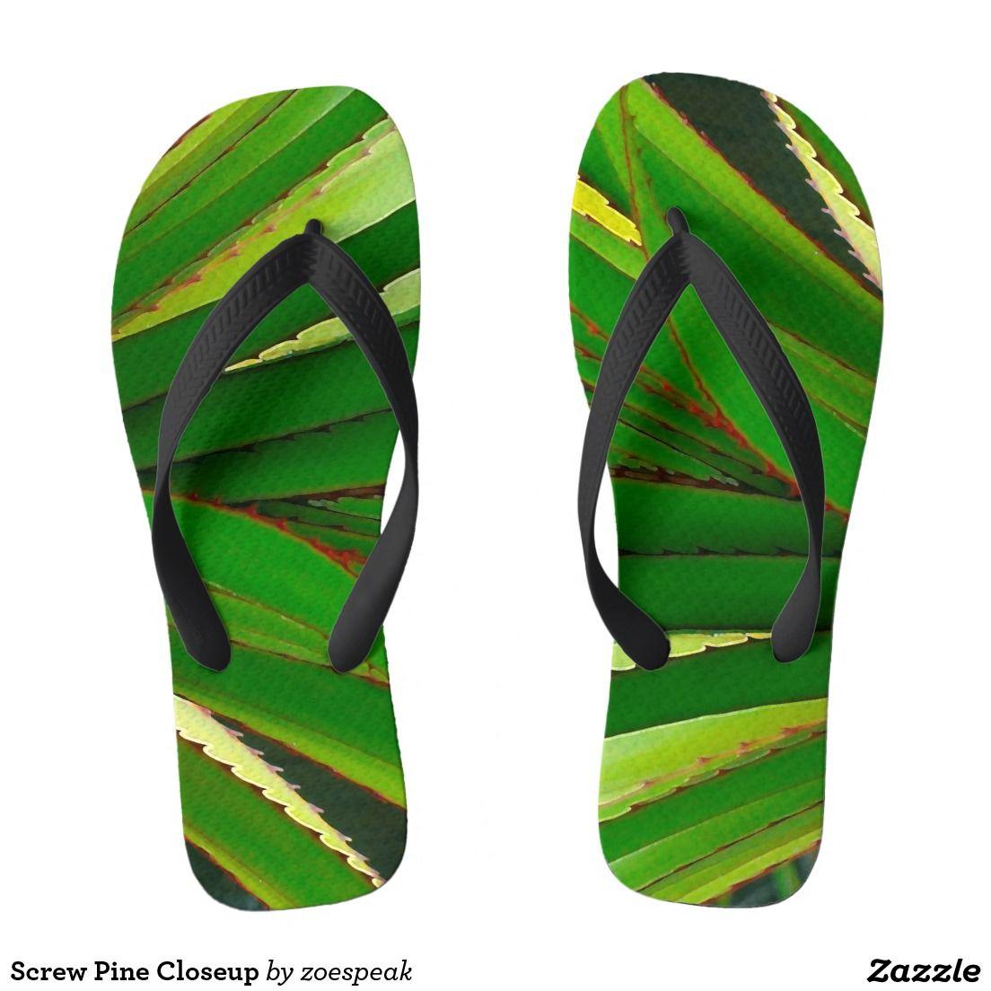 Screw Pine Closeup, Flip Flops for Women, Men and Kids from ZoeSPEAK