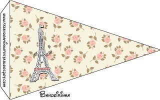 Paris Floral - Kit Completo com molduras para convites, rótulos para guloseimas, lembrancinhas e imagens!