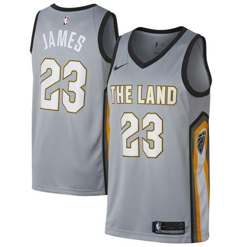 Nike Cavaliers  23 LeBron James Gray NBA Swingman City Edition Jersey 737be0f46