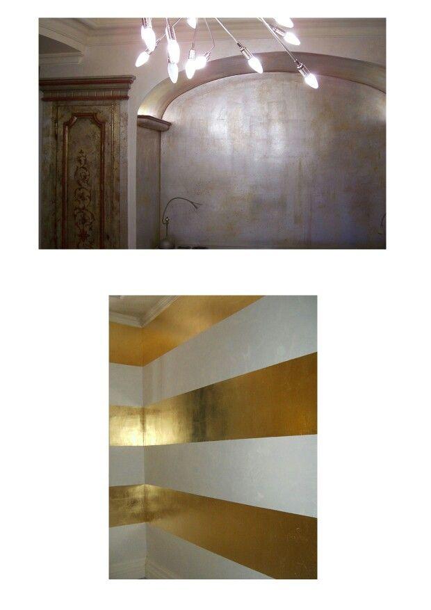 foglua d oro e argento con stucco veneziano