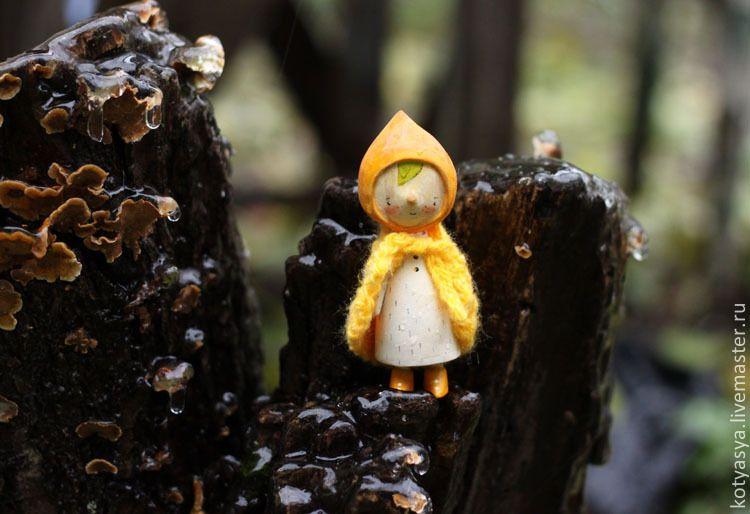 Aspen mushroom girl by Kotyasya