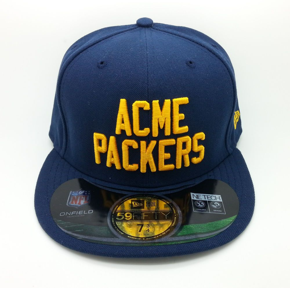 9853fb292e5 GREEN BAY ACME PACKERS NFL NEW ERA 59 FIFTY FITTED HAT CAP (SIZE 7 3 4) --  NEW  NEWERA59FIFTY  GreenBayPackers