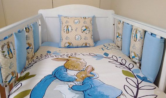 Peter Rabbit Nursery Bedding Bundle This Lovely Full Cot Sized Set Is Perfect For A Beatrix Potter Available In Blue And Pink Use The Drop