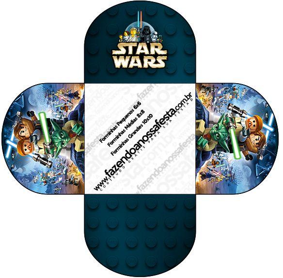 Star Wars Lego: Cajas para imprimir gratis para Fiestas. | Star Wars ...