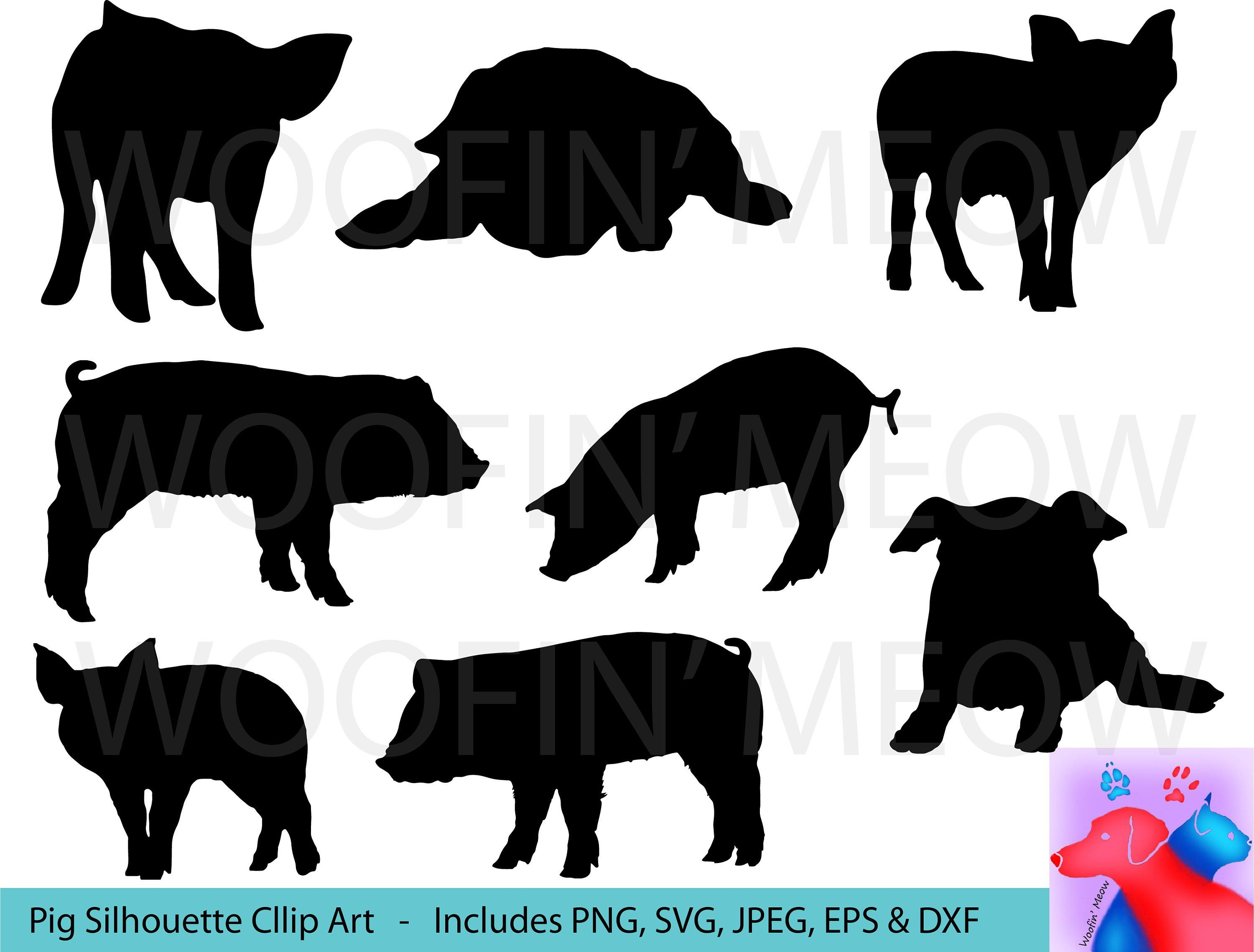 small resolution of pig svg clipart pigs silhouette pigs vector pigs clip art pigs svg piggy svg farm animal pig decal pig silhouette instant download by woofinmeow on