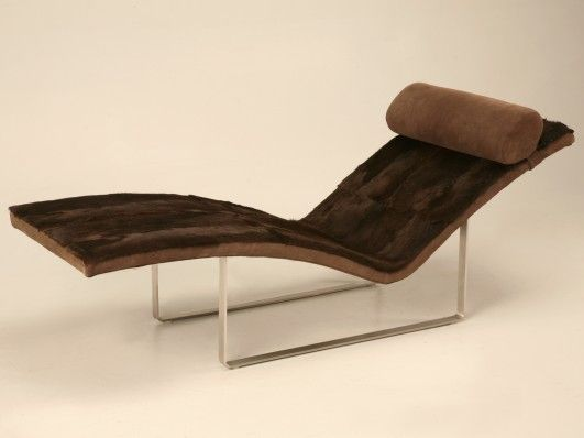 Magnificent Vintage French Moderne Chaise Longue The Literal Translation Is Long Chair With Clean Linear Lines And Remarkably Comfortable This F Dormitorios
