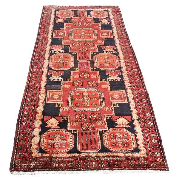 10 X4 1 Vintage Persian Rug Modern Design Traditional Area For Luxury Made Of Merino Wool Geometric Pattern Organic Colors