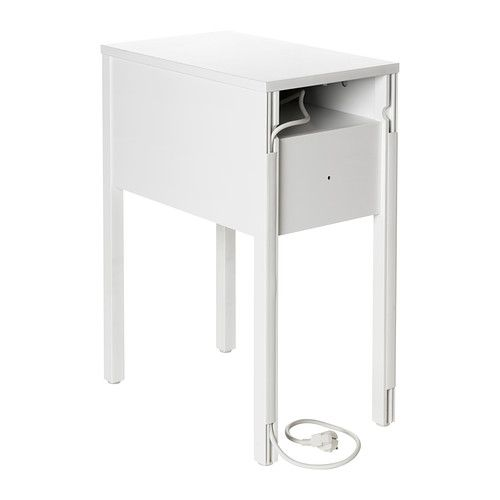 NORDLI Nightstand IKEA On the hidden shelf is room for an outlet strip for  your chargers