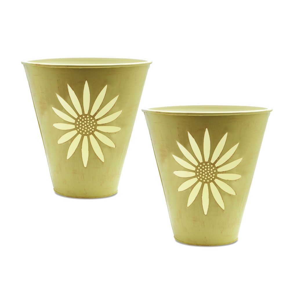 by Northern Lights Candles  Mini Sunflower Bucket with Glass Votive