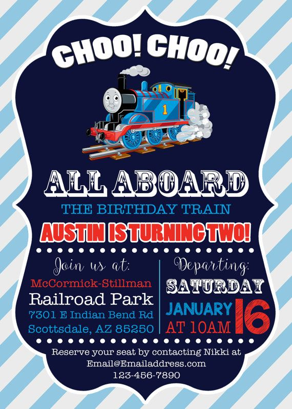 Thomas The Train Invitation By LittleGermanBoutique On Etsy Boy Birthday Invitations Party