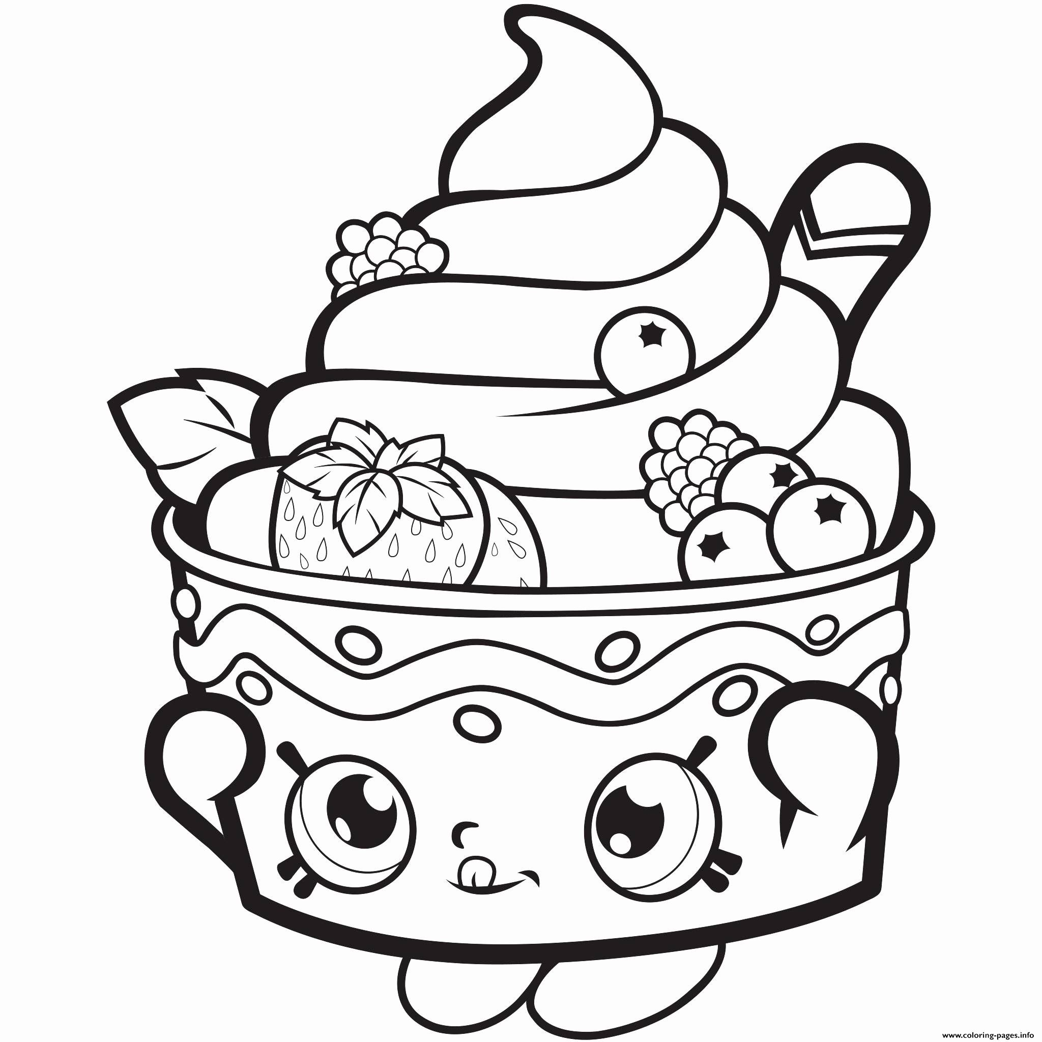 Cake Coloring Pages For Adults Best Of Shopkin Coloring Page