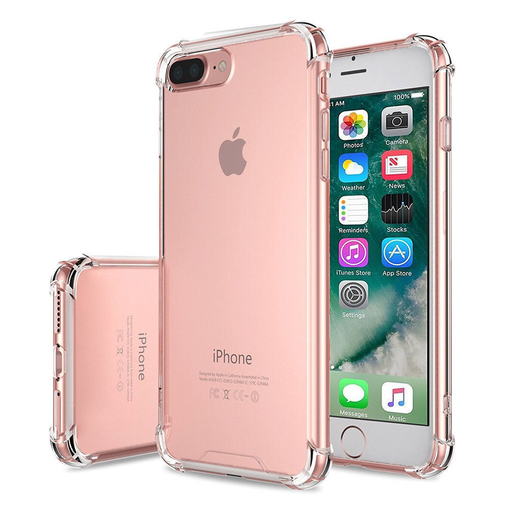 For Apple Iphone 8 7 Case Clear Hybrid Slim Shockproof Soft Tpu Bumper Cover Iphone Iphone 7 Plus Cases Iphone 7