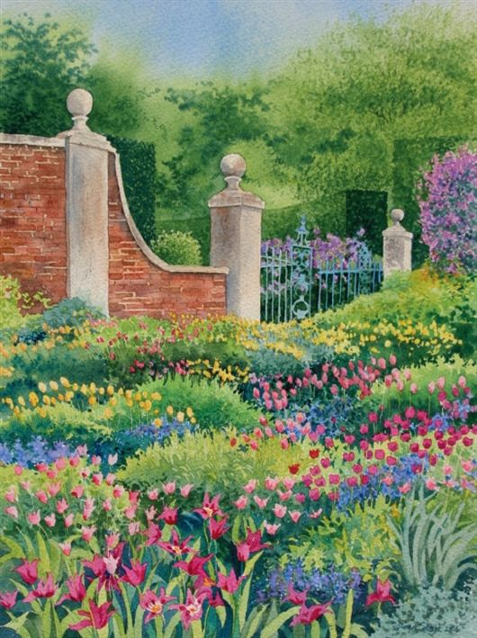 How To Paint Tulips In A Garden Setting Using Watercolour With Gwen Scott Learn Watercolor Painting