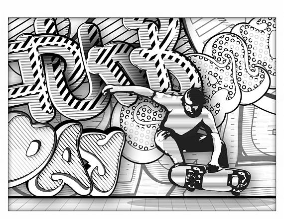 Kleurplaten Graffiti.Graffiti Coloring Book For Adults Graffiti Coloring Book Adult