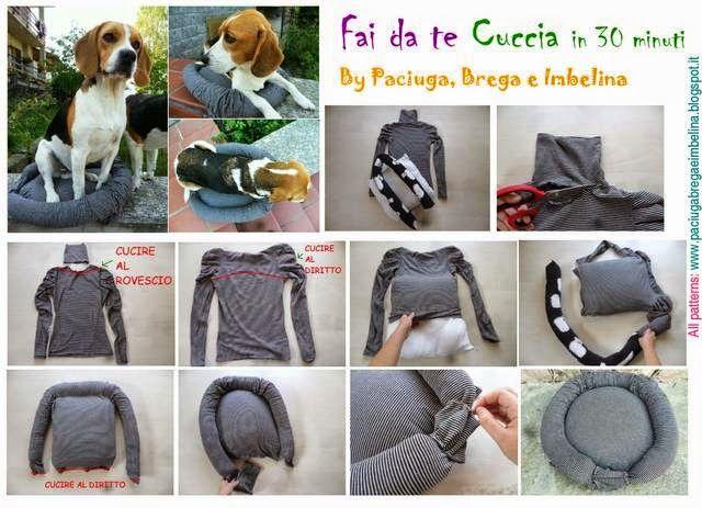 Cuccia per cane e gatto di stoffa fai da te cose utili - Cuccia per gatti da esterno fai da te ...