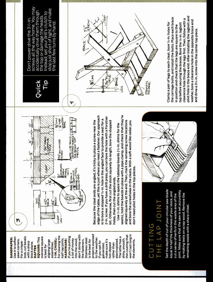 Picnic Table From Popular Mechanics Via DIY Diva Yard Pinterest - Popular mechanics picnic table