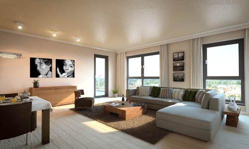 Strak ingericht maar toch huiselijk design interieur for Interieur kleuren woonkamer