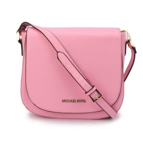 ad61afd10d6c Michael Kors Hayes Messenger Small Pink Crossbody Bags