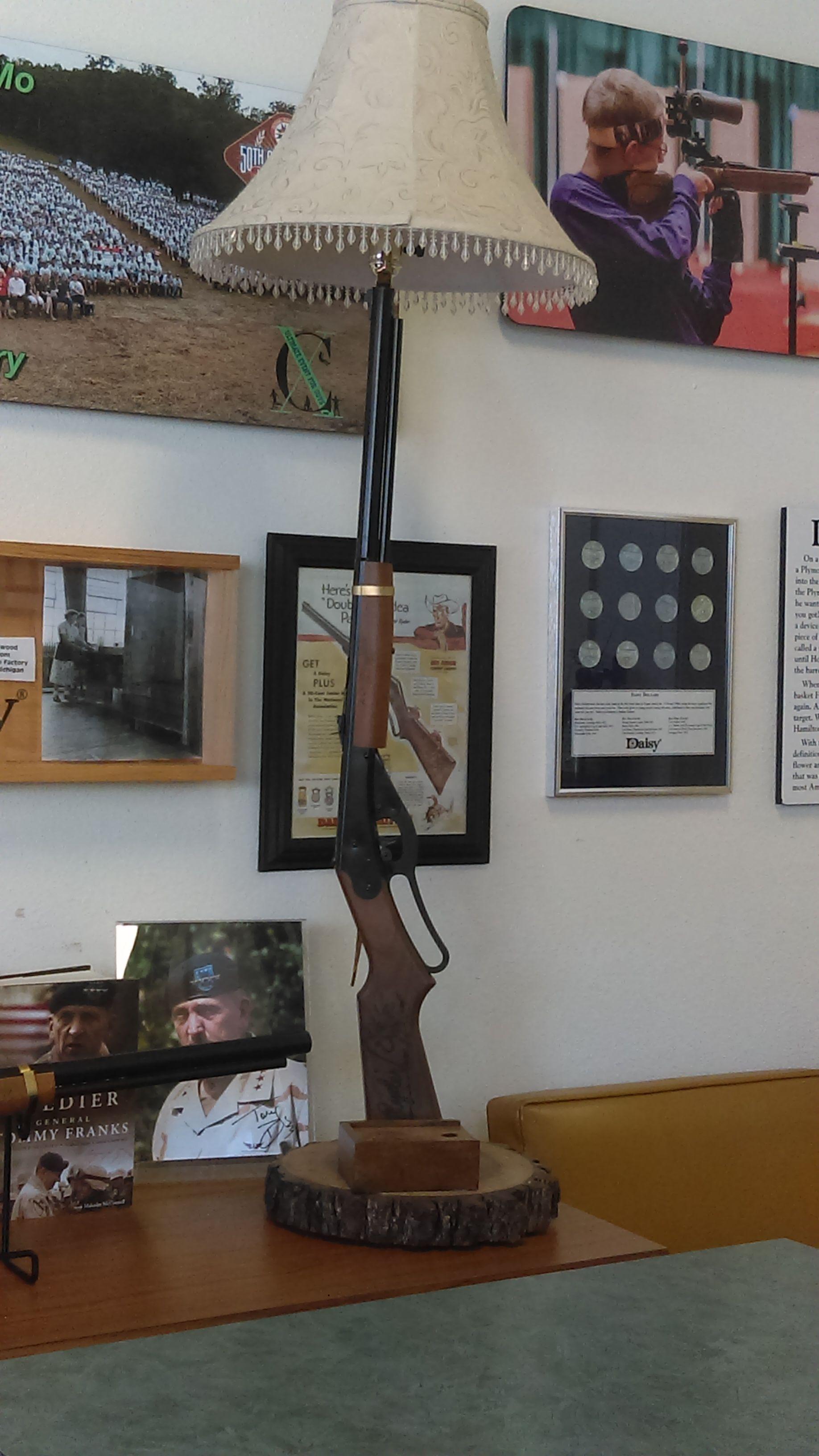 Daisy red ryder lamp | Rifle Decor | Daisy, Air rifle