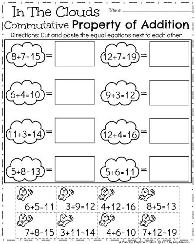 First Grade Worksheets for Spring First grade worksheets