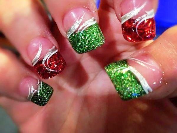 ravishing red and green nail